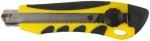 Нож технический 18 мм усиленный вращающимся прижимом, FIT, 10253