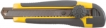 Нож технический 18 мм усиленный вращающимся прижимом лезвие 15 сегментов, FIT, 10255