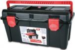Ящик для инструментов черный + глубокий поддон + футляр, ручка патент №36, TAYG, 136009