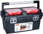 Ящик для инструментов, поддон + органайзер + 2 съемных органайзера в крышке №500-E, TAYG, 166006