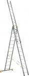 Лестница трехсекционная усиленная профессиональная 3х14 (402/704/1022 см, 32,6 кг), АЛЮМЕТ, 9314