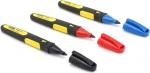 Набор из 3-х разноцветных маркеров FatMax с заостренным наконечником, STANLEY, 0-47-322