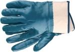 Перчатки рабочие из трикотажа с нитриловым обливом, крага, СИБРТЕХ