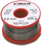 Оловянный радиоприпой 2 мм 250 гр, CIMCO, 150104